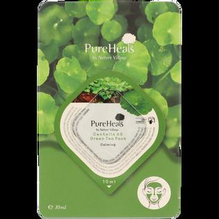 Pureheals_łagodząca maska do twarzy z wąkrotą azjatycką i komórkami macierzystymi zielonej herbaty, 10 ml_2