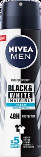 Nivea Men_Black & White Invisible Fresh_antyperspirant męski sprayu, 150 ml