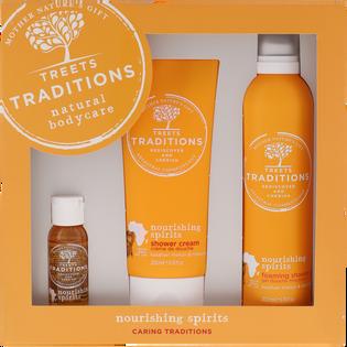 Treets Traditions_zestaw: olejek, 30 ml, żel pod prysznic, 200 ml, pianka pod prysznic, 200 ml_1