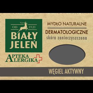 Biały Jeleń_Apteka Alergika_mydło naturalne dermatologiczne w kostce, węgiel aktywny, 125 g