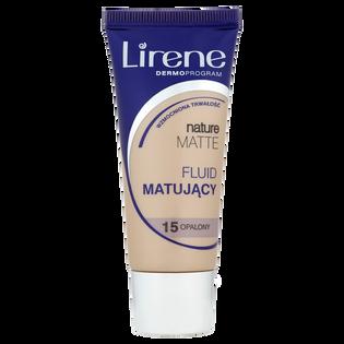 Lirene_Nature Matte_fluid w płynie do twarzy, opalony 15, 30 ml