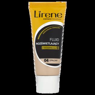 Lirene_Dermoprogram_rozświetlający podkład w płynie do twarzy z witaminą C opalony 04, 30 ml