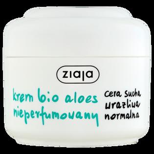 Ziaja_Bio Aloes_krem do twarzy nieperfumowany do cery suchej, wrażliwej i normalnej na dzień i na noc, 50 ml