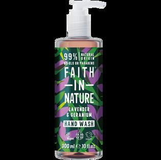 Faith In Nature_Lavender & Geranium_organiczny żel do mycia mycia rąk, 300 ml