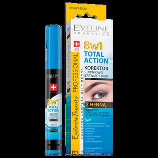 Eveline_8w1 Total Action_korektor do brwi z henną 8w1, 9 ml