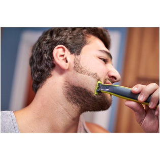 Philips_OneBlade QP2530/20_zestaw do twarzy: maszynka do golenia, 1 szt. + nasadki, 4 szt. + ładowarka, 1 szt._13