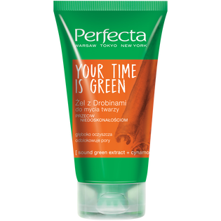 Perfecta_Your Time Is Green_żel z drobinami do mycia twarzy, 150 ml