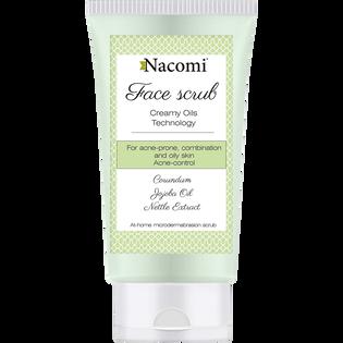 Nacomi_peeling do twarzy z korundem dla skóry mieszanej, tłustej i trądzikowej, 75 ML