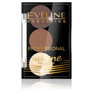 Eveline_All in One_paleta cieni do stylizacji brwi 02, 1,7 g