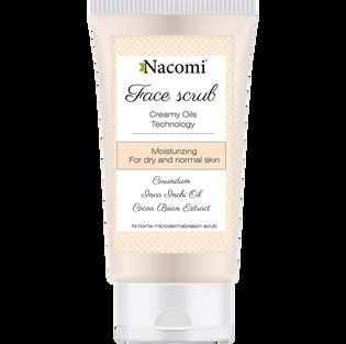 Nacomi_peeling do twarzy z korundem nawilżający dla skory suchej i normalnej, 75 ml