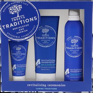 Treets Traditions_Revitalising Ceremonies_zestaw: lotion do ciała, 50 ml + żel-krem do mycia włosów i ciała, 200 ml + pianka pod prysznic, 200 ml_1