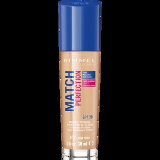 Rimmel_Match Perfection_podkład do twarzy light beige 102 SPF20, 30 ml