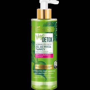 Bielenda_Vege Detox_normalizujący żel do mycia twarzy jarmuż & burak + prebiotyk, 200 g