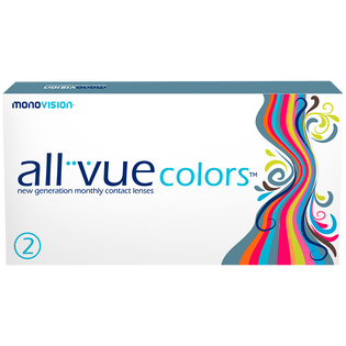 All Vue_Colors Blue_soczewki moc 0.00, 2 szt./1 opak.