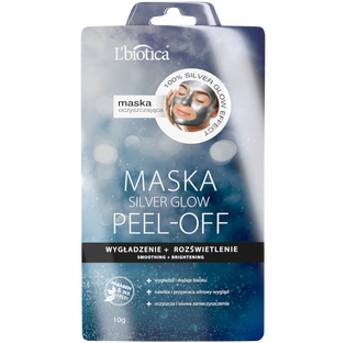 L'Biotica_Silver Glow_maseczka peel-off do twarzy wy gładzenie rozświetlenie, 10 g