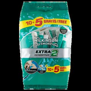Wilkinson Sword_Extra2 Sensitive_jednorazowe maszynki do golenia męskie, 10+5 szt./1 opak.