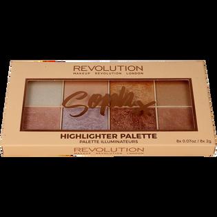 Revolution Makeup_Soph Highlighter Palette_paleta rozświetlaczy do twarzy, 16 g