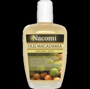 Nacomi_olejek z makadamia do twarzy, ciała i włosów dla skóry suchej, 50 ml
