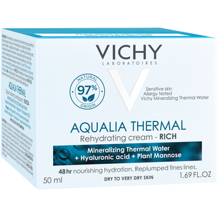 Vichy_Aqualia Thermal_odżywczy krem nawilżający do skóry suchej i bardzo suchej, 50 ml_2