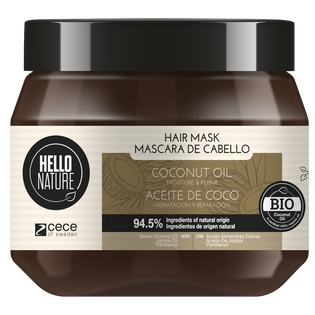 Hello Nature_Olej kokosowy_maska do włosów, 250 ml