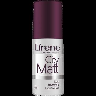 Lirene_City Matt_matujący podklad w płynie do twarzy piaskowy 205, 30 ml