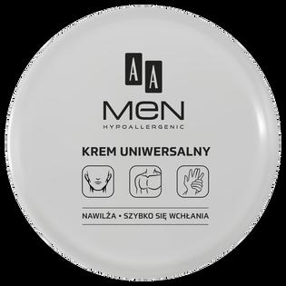 AA_Men_hipoalergiczny krem do twarzy, ciała i rąk męski, 125 ml