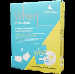 When_Snow Magic_koreańska maska rozświetlająca do twarzy, 23 ml_2