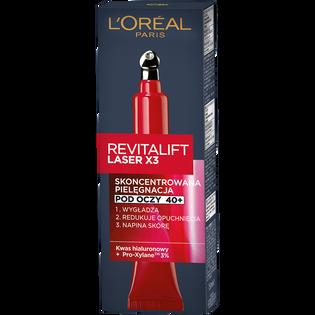 Loreal Paris_Revitalift laser x3_krem pod oczy wypełniający skórę, redukujący zmarszczki i opuchnięcia pod oczami, 15 ml