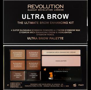 Revolution Makeup_Ultra Brow_zestaw do stylizacji brwi medium to dark, 1 opak._2