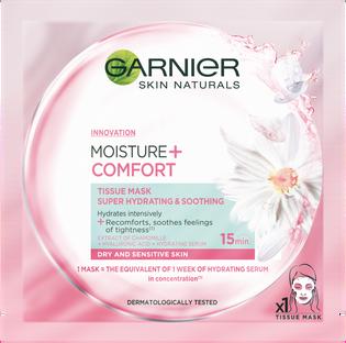 Garnier_Moisture+ Comfort_łagodząca maska do twarzy z rumiankiem, 32 g