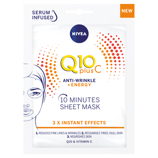 Nivea_Q10 Plus C Anti-Wrinkle + Energy_maska do twarzy, 1 szt.