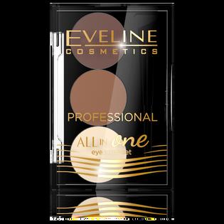 Eveline Cosmetics_All in One_paleta cieni do stylizacji brwi 02, 1,7 g