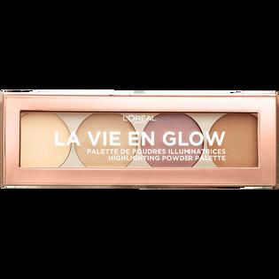 L'Oréal Paris_La Vie En Glow_paleta rozświetlaczy eclat dore 01, 6 g