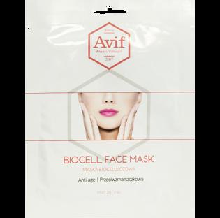 Avif_biocelulozowa maska przeciwzmarszczkowa do twarzy, 23 g