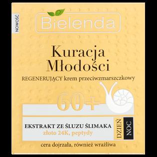 Bielenda_Kuracja Młodości 60+_regenerujący krem przeciwzmarszczkowy do twarzy na dzień i noc 60+, 50 ml
