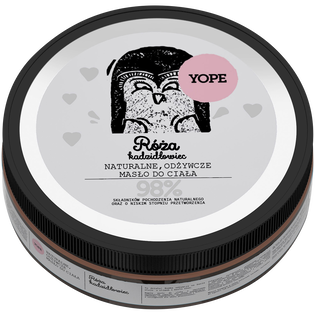 Yope_Róża i Kadzidłowiec_naturalne, odżywcze masło do ciała, 200 ml