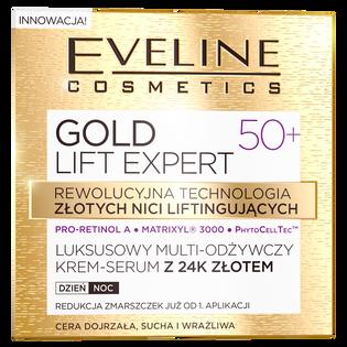 Eveline_Gold Lift Expert_multi-odżywczy krem-serum z 24k złotem do twarzy 50+, 50 ml_2