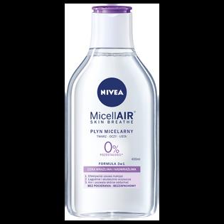 Nivea_MicellAir Skin Breathe_płyn micelarny do demakijażu twarzy dla skóry wrażliwej i nadwrażliwej, 400 ml