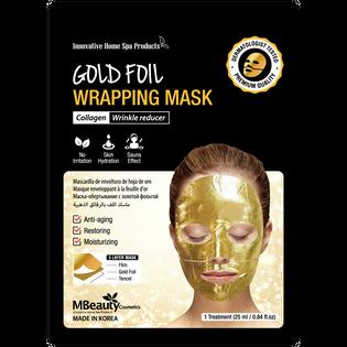 Mbeauty_Gold Foil_wygładzająca maska na złotej folii z kolagenem, 25 ml