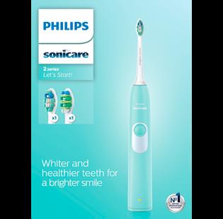 Philips_Sonicare Let's Start!_zestaw: soniczna szczoteczka do zębów, 1 szt. + wymienne główki, 2 szt.+ etui podróżne, 1 szt._1