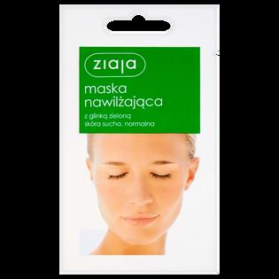 Ziaja_Nawilżająca_nawilżająca maska do twarzy z glinką zieloną, 7 ml