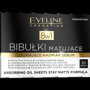Eveline_8w1_bibułki matujące do twarzy, 50 szt./1 opak.