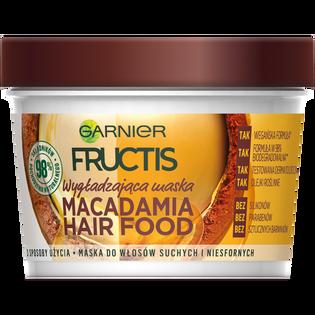 Garnier Fructis_Macadamia Hair Food_maska do włosów suchych i niesfornych, 390 ml