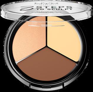 NYX Professional Makeup_3 Steps To Sculpt_paleta do konturowania twarzy light, 5 g_2