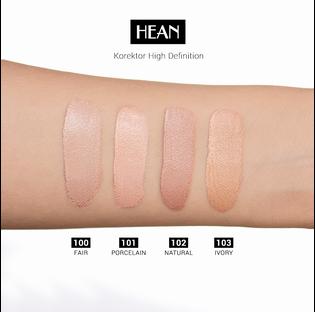 Hean_High Definition_korektor rozświetlający do twarzy i pod oczy porcelain 101, 9 ml_4