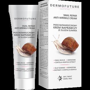 Dermofuture_Snail Repair_przeciwzmarszczowy krem naprawczy ze śluzem ślimaka na dzień i noc, 30 ml