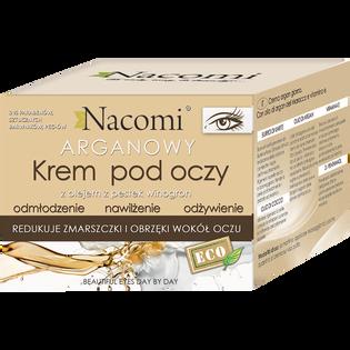 Nacomi_krem pod oczy z olejem arganowym i z pestek winogron, 15 ml