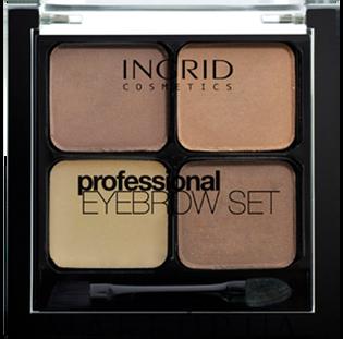 Ingrid_Professional_zestaw do stylizacji brwi brown, 7 g