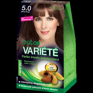 Color Variete_Jasny brąz_farba do włosów 5.0 jasny brąz, 1 opak.