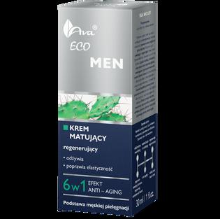 Ava_Eco Men_matujący krem regenerujący do twarzy 6w1 męski, 50 ml_2